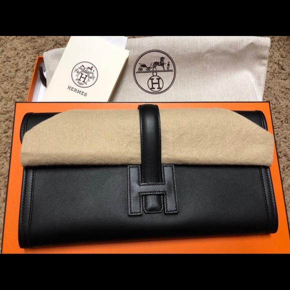 5e0f9e92ed7d Hermes Handbags - Hermes Black 2016 Swift Jige Elan 29